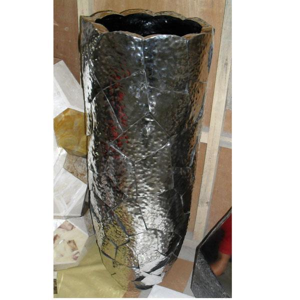Hammered Stainless Vase