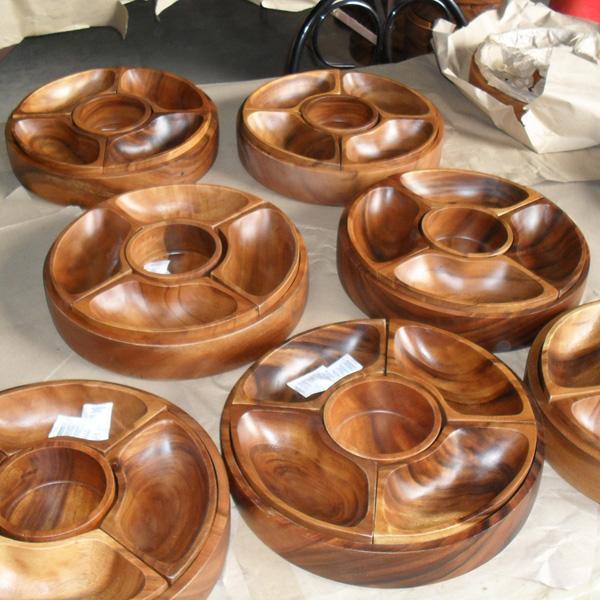 Wood Chip Dip Bowl